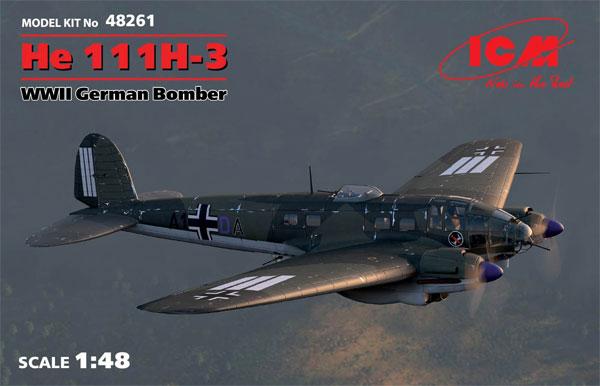 ハインケル He111H-3 爆撃機プラモデル(ICM1/48 エアクラフト プラモデルNo.48261)商品画像