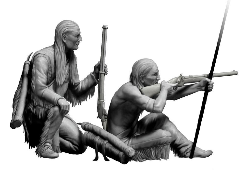 長距離射撃 (インディアン戦争)プラモデル(マスターボックス1/35 ミリタリーミニチュアNo.MB35128)商品画像_2