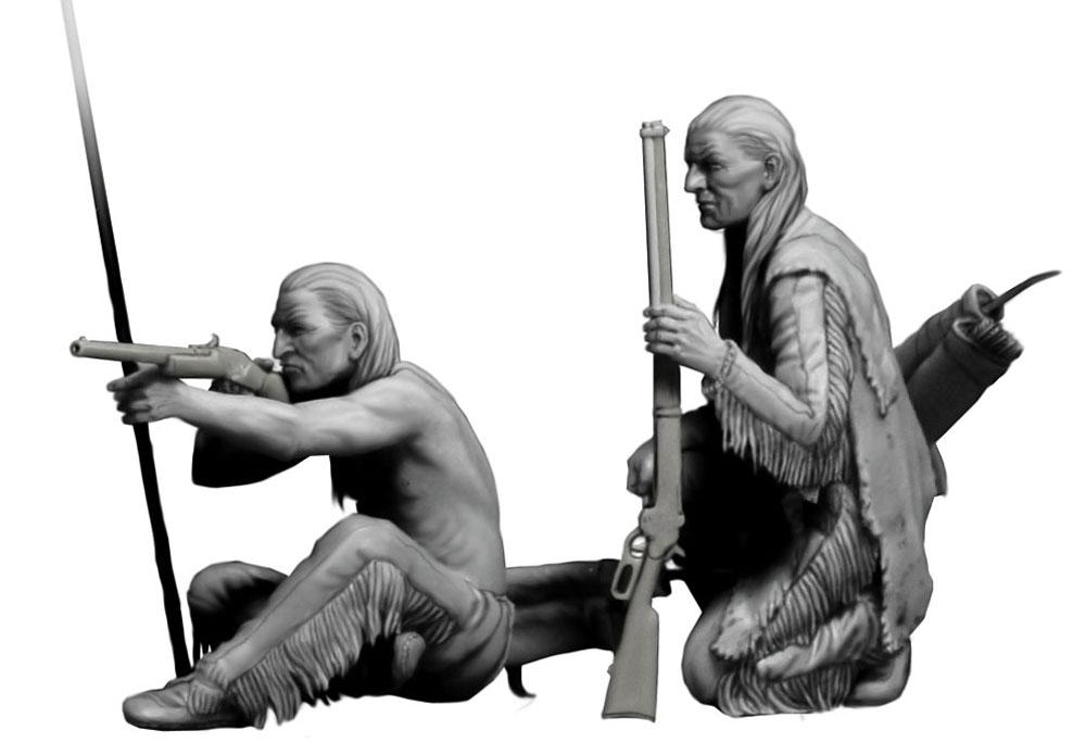 長距離射撃 (インディアン戦争)プラモデル(マスターボックス1/35 ミリタリーミニチュアNo.MB35128)商品画像_3