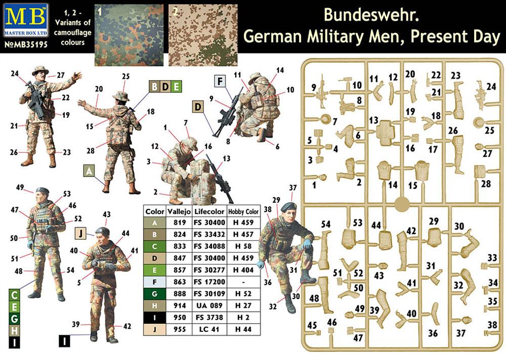 ドイツ連邦軍 軍用兵士 現代プラモデル(マスターボックス1/35 ミリタリーミニチュアNo.MB35195)商品画像_1