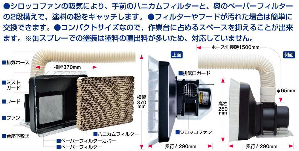 Mr.スーパーブース コンパクトツール(GSIクレオスコンプレッサーアクセサリーパーツNo.FT-03)商品画像_2