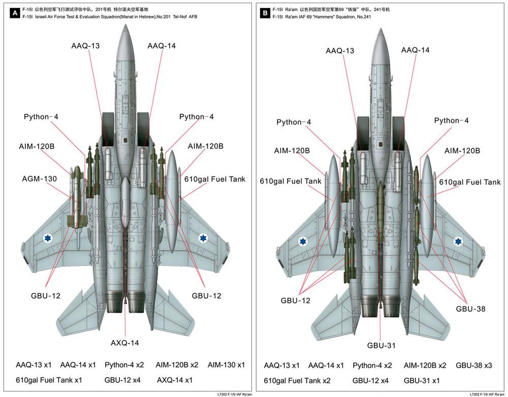 イスラエル空軍 F-15I ラームプラモデル(グレートウォールホビー1/72 エアクラフト プラモデルNo.L7202)商品画像_2