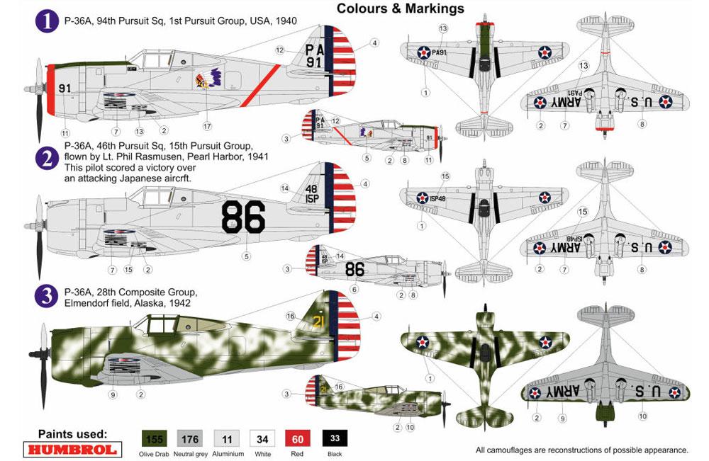 カーチス P-36Aプラモデル(AZ model1/72 エアクラフト プラモデルNo.AZ7574)商品画像_1