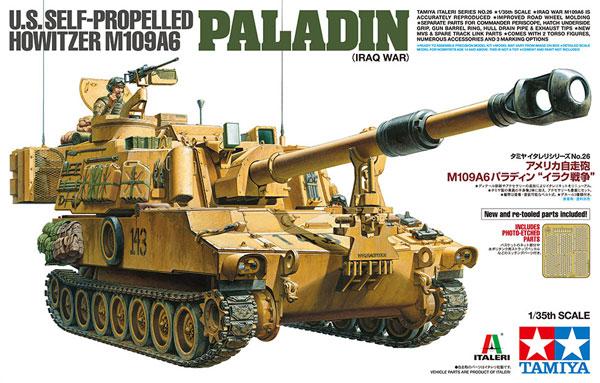 アメリカ 自走砲 M109A6 パラディン イラク戦争プラモデル(タミヤタミヤ イタレリ シリーズNo.37026)商品画像