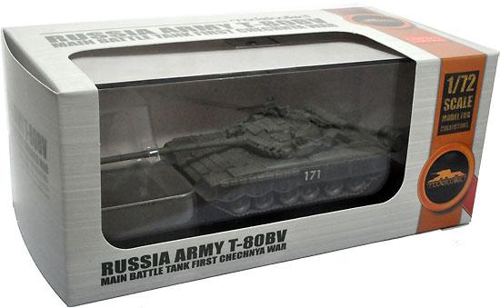 ロシア T-80BV 主力戦車 第1次チェチェン紛争完成品(モデルコレクト1/72 AFV 完成品モデルNo.MODAS72083)商品画像