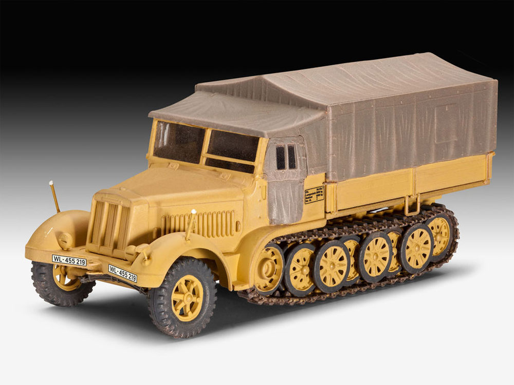 Sd.Kfz.7 ハーフトラック (後期型)プラモデル(レベル1/72 ミリタリーNo.03263)商品画像_2