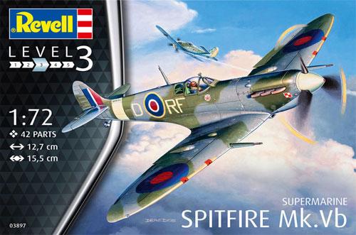 スピットファイア Mk.5bプラモデル(レベル1/72 飛行機No.03897)商品画像