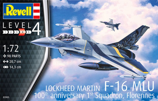 F-16Mlu ファイティングファルコン 100th アニバーサリープラモデル(レベル1/72 AircraftNo.03905)商品画像