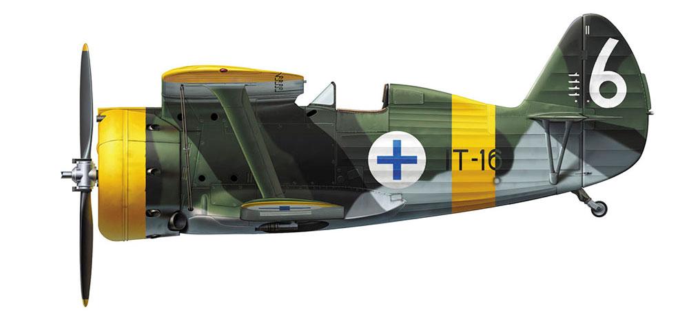 ポリカルポフ I-153 フィンランド空軍プラモデル(ハセガワ1/48 飛行機 限定生産No.07461)商品画像_3
