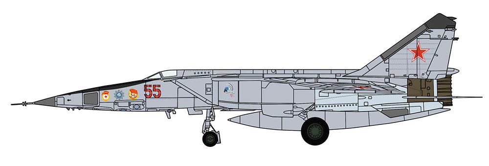 ミグ 25RBT フォックスバット ロシア空軍プラモデル(ハセガワ1/48 飛行機 限定生産No.07462)商品画像_2