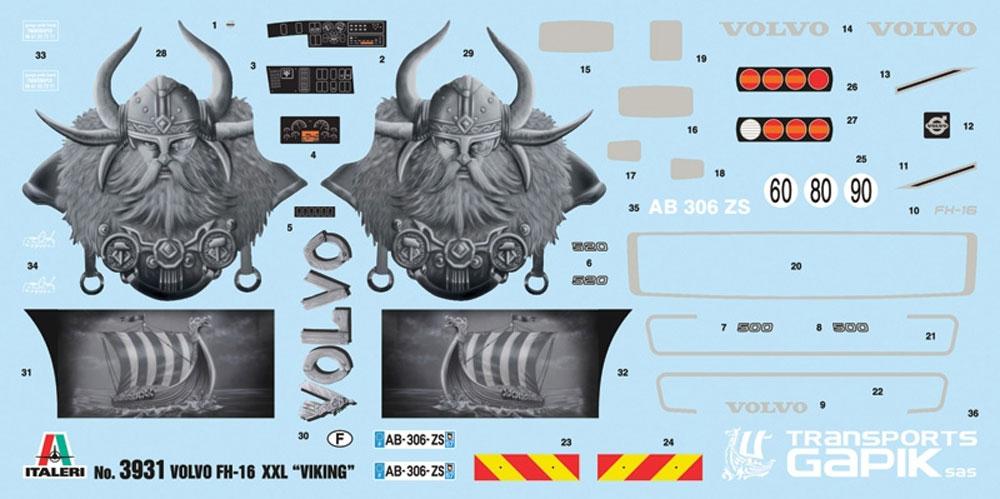 ボルボ FH16 XXL ヴァイキングプラモデル(イタレリ1/24 トラックシリーズNo.3931)商品画像_1