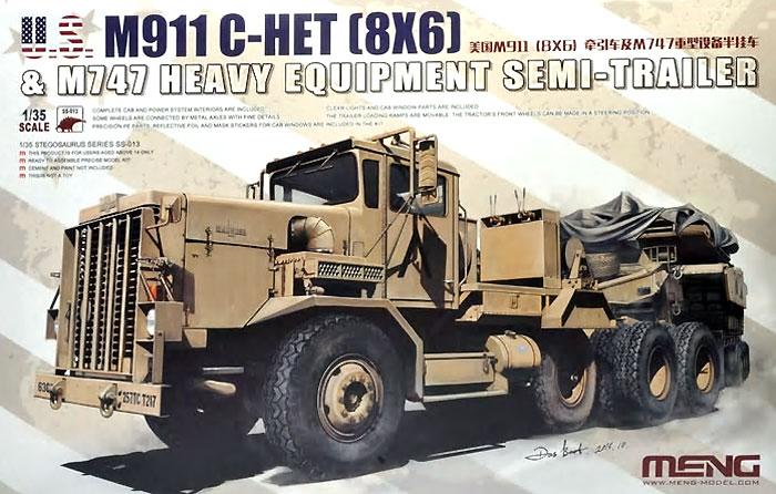 アメリカ M911 C-HET 8×6 戦車運搬トラック & M747 セミトレーラープラモデル(MENG-MODEL1/35 ステゴザウルス シリーズNo.SS-013)商品画像