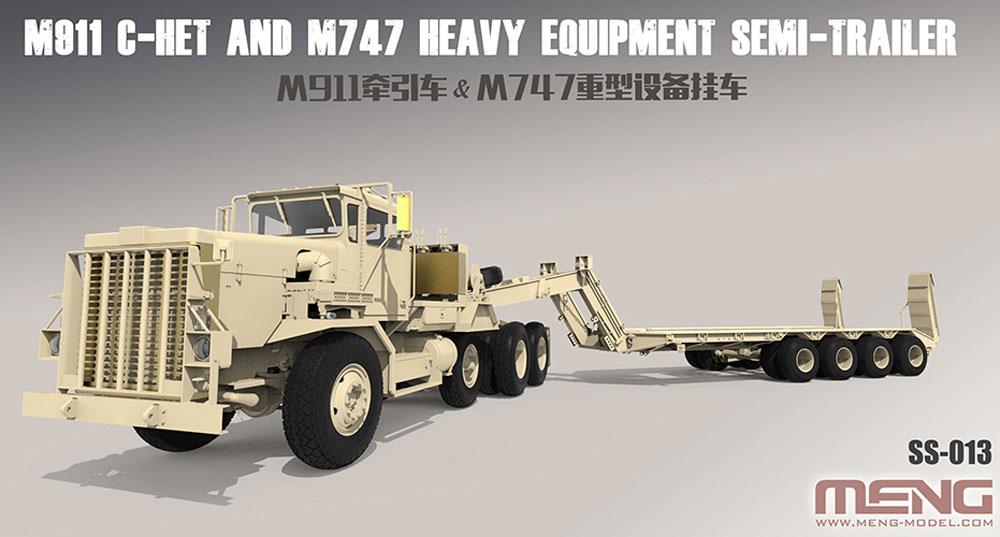 アメリカ M911 C-HET 8×6 戦車運搬トラック & M747 セミトレーラープラモデル(MENG-MODEL1/35 ステゴザウルス シリーズNo.SS-013)商品画像_2
