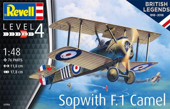 ソッピース F.1 キャメルプラモデル(レベル1/48 飛行機モデルNo.03906)商品画像