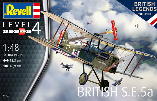 イギリス S.E.5aプラモデル(レベル1/48 飛行機モデルNo.03907)商品画像