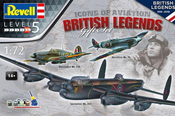 ブリティッシュ レジェンズ ギフトセットプラモデル(レベル1/72 飛行機No.05696)商品画像