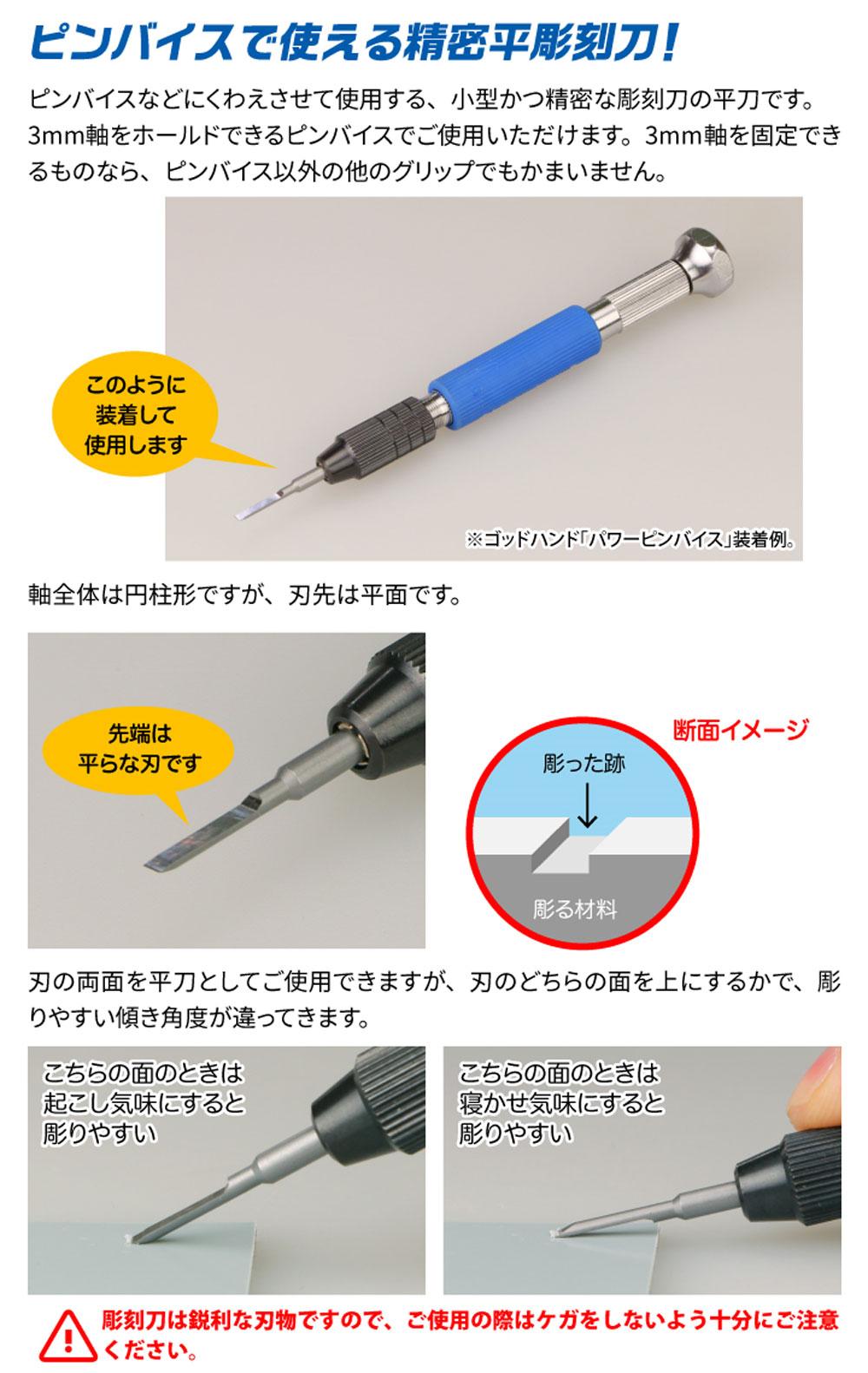 ビットブレード 平刀 5本セットマイクロブレード(ゴッドハンド模型工具No.GH-BBH-1-3)商品画像_1