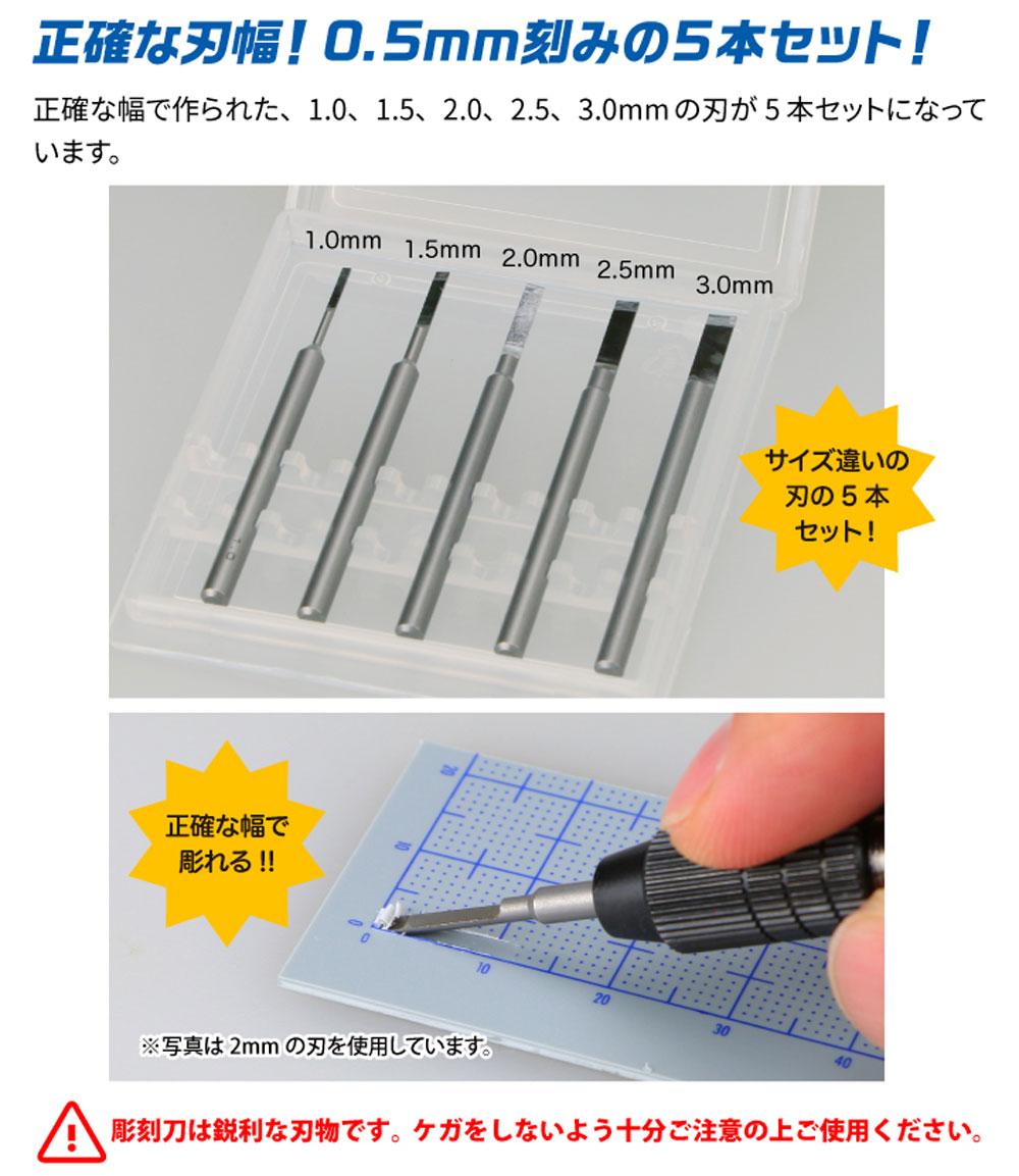 ビットブレード 平刀 5本セットマイクロブレード(ゴッドハンド模型工具No.GH-BBH-1-3)商品画像_2