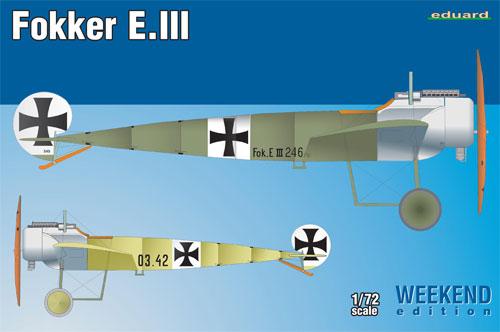 フォッカー E.3プラモデル(エデュアルド1/72 ウィークエンド エディションNo.7444)商品画像