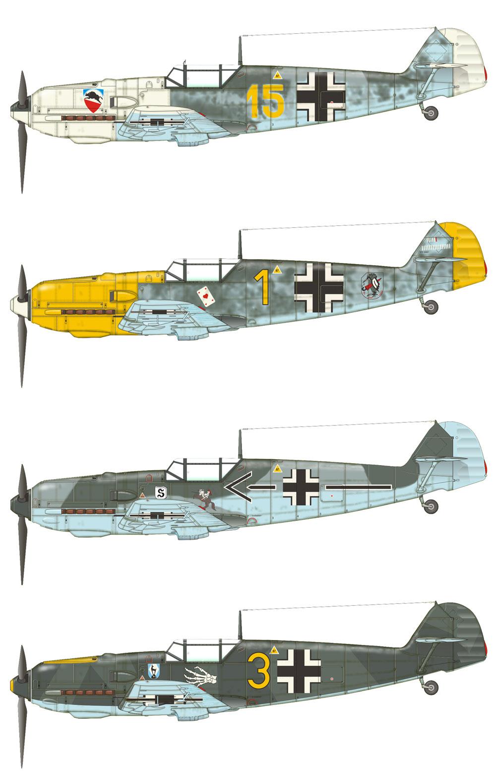 メッサーシュミット Bf109E-3プラモデル(エデュアルド1/48 プロフィパックNo.8262)商品画像_3