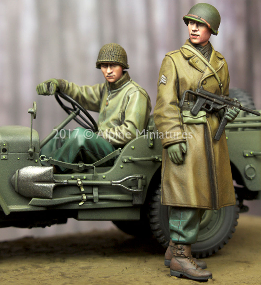 WW2 アメリカ 下士官 & ドライバー セットレジン(アルパイン1/35 フィギュアNo.AM35243)商品画像_4