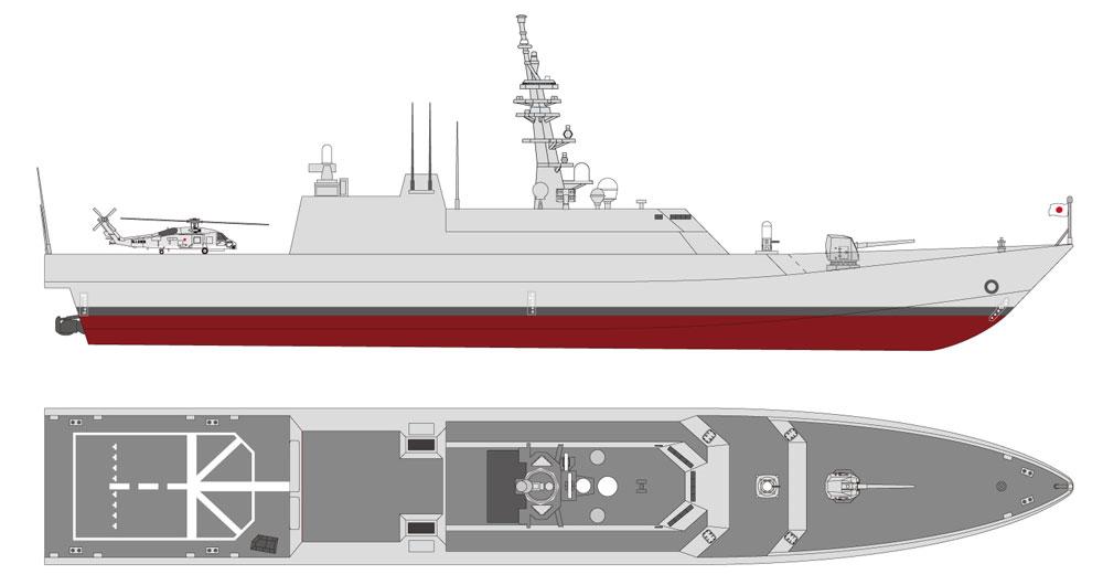 海上自衛隊 新型多機能護衛艦 (DEX)レジン(アートテクニクス1/700 艦船No.HM052)商品画像_4