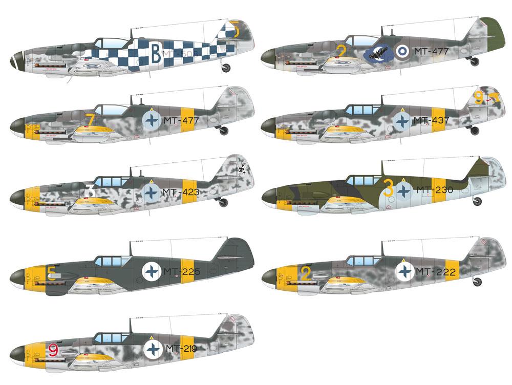 メッサーシュミット Bf109G フィンランド空軍 デュアルコンボプラモデル(エデュアルド1/48 リミテッドエディションNo.11114)商品画像_2