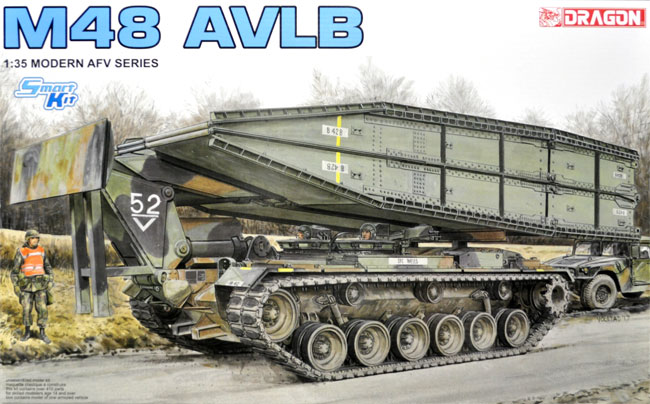 アメリカ M48 AVLB 架橋戦車プラモデル(ドラゴン1/35 Modern AFV SeriesNo.3606)商品画像