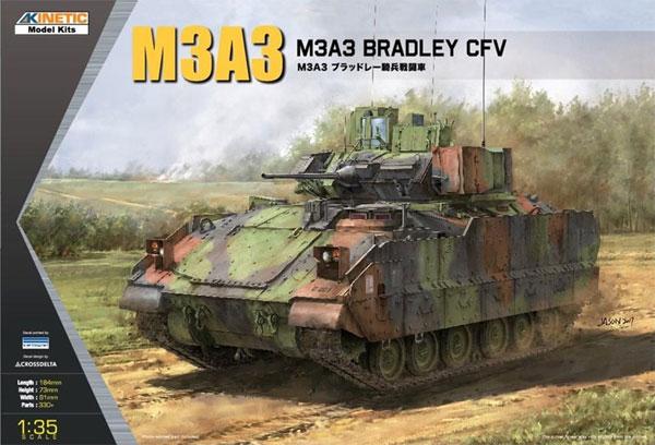 M3A3 ブラッドレー 騎兵戦闘車プラモデル(キネティック1/35 AFVキットNo.K61014)商品画像