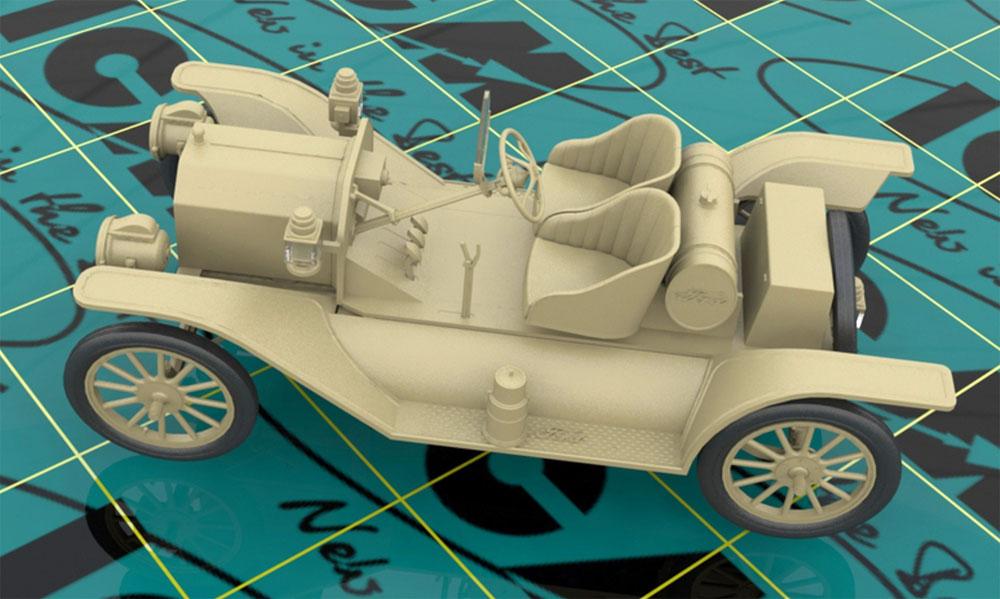 T型フォード 1913 スピードスタープラモデル(ICM1/24 カーモデルNo.24015)商品画像_4