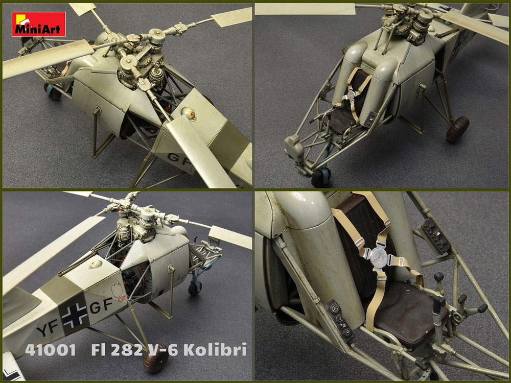 FL282 V-6 コリブリプラモデル(ミニアートエアクラフトミニチュアシリーズNo.41001)商品画像_4