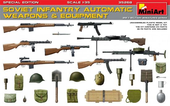 ソビエト歩兵 機関銃 装備品セット 特別版プラモデル(ミニアート1/35 WW2 ミリタリーミニチュアNo.35268)商品画像