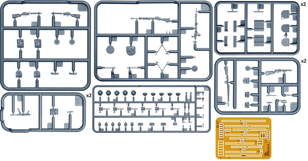ソビエト歩兵 機関銃 装備品セット 特別版プラモデル(ミニアート1/35 WW2 ミリタリーミニチュアNo.35268)商品画像_1