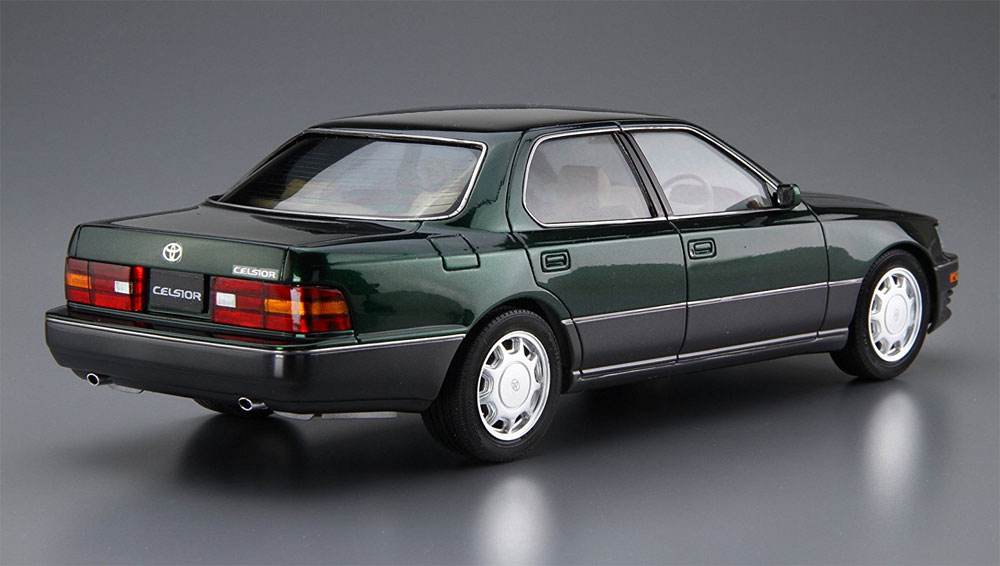 トヨタ UCF11 セルシオ 4.0C仕様 Fパッケージ '92プラモデル(アオシマ1/24 ザ・モデルカーNo.旧072)商品画像_3