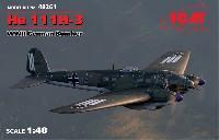 ICM1/48 エアクラフト プラモデルハインケル He111H-3 爆撃機