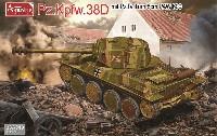 アミュージングホビー1/35 ミリタリードイツ 38D戦車 8cm低圧砲 PAW600型搭載 (4号戦車砲塔)