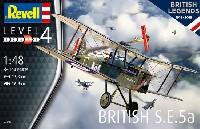 レベル1/48 飛行機モデルイギリス S.E.5a