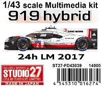 スタジオ271/43 マルチメディアキットポルシェ 919 ハイブリッド ル・マン 2017