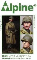 アルパイン1/35 フィギュアWW2 アメリカ 歩兵部隊 下士官 (外套姿)
