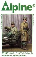 アルパイン1/35 フィギュアWW2 アメリカ 下士官 & ドライバー セット