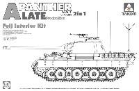 WW2 ドイツ軍 中戦車 Sd.Kfz 171 パンターA型 後期型 フルインテリアキット 2in1