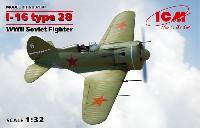 ICM1/32 エアクラフトポリカルポフ I-16 タイプ28