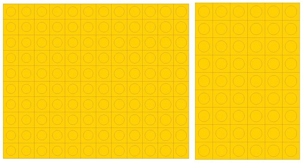 円形マスキングシール S (直径 1.0-2.8mm)マスキングシート(HIQパーツ塗装用品No.CMS-S-MSK)商品画像_2