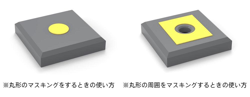円形マスキングシール S (直径 1.0-2.8mm)マスキングシート(HIQパーツ塗装用品No.CMS-S-MSK)商品画像_3