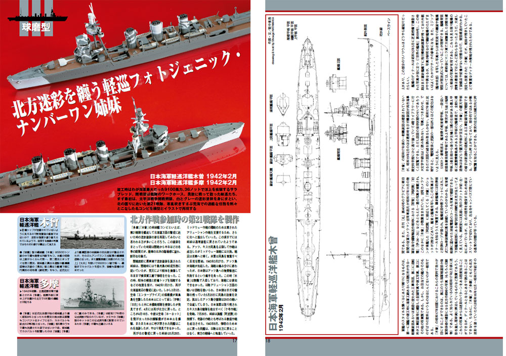 日本海軍軽巡洋艦 1/700 マスターモデリングガイド本(大日本絵画船舶関連書籍No.23232)商品画像_4