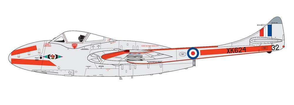 デハビラント バンパイア T.11/J-28Cプラモデル(エアフィックス1/72 ミリタリーエアクラフトNo.A02058A)商品画像_2