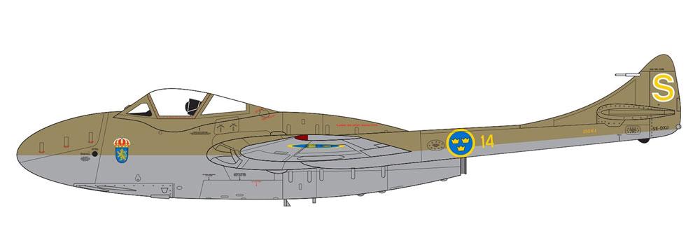 デハビラント バンパイア T.11/J-28Cプラモデル(エアフィックス1/72 ミリタリーエアクラフトNo.A02058A)商品画像_3