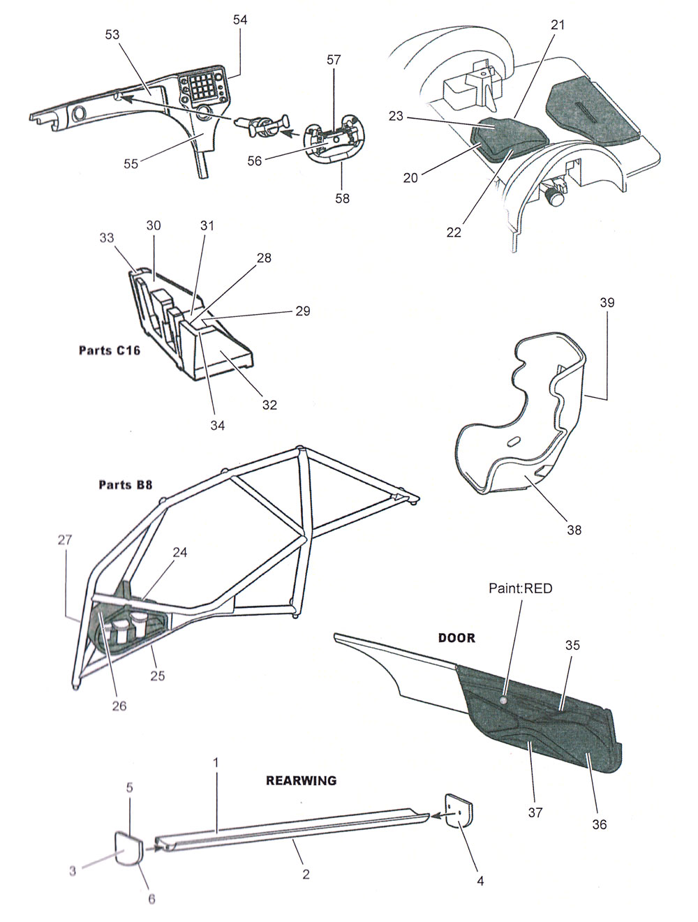 BMW M6 GT3 カーボンデカールデカール(スタジオ27ツーリングカー/GTカー カーボンデカールNo.CD24028)商品画像_2