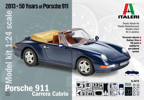 ポルシェ 911 カレラ カブリオレプラモデル(イタレリ1/24 カーモデルNo.3679)商品画像