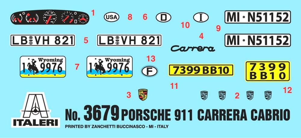 ポルシェ 911 カレラ カブリオレプラモデル(イタレリ1/24 カーモデルNo.3679)商品画像_1